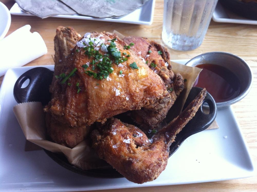 The gluten-free fried chicken at Yardbird!!