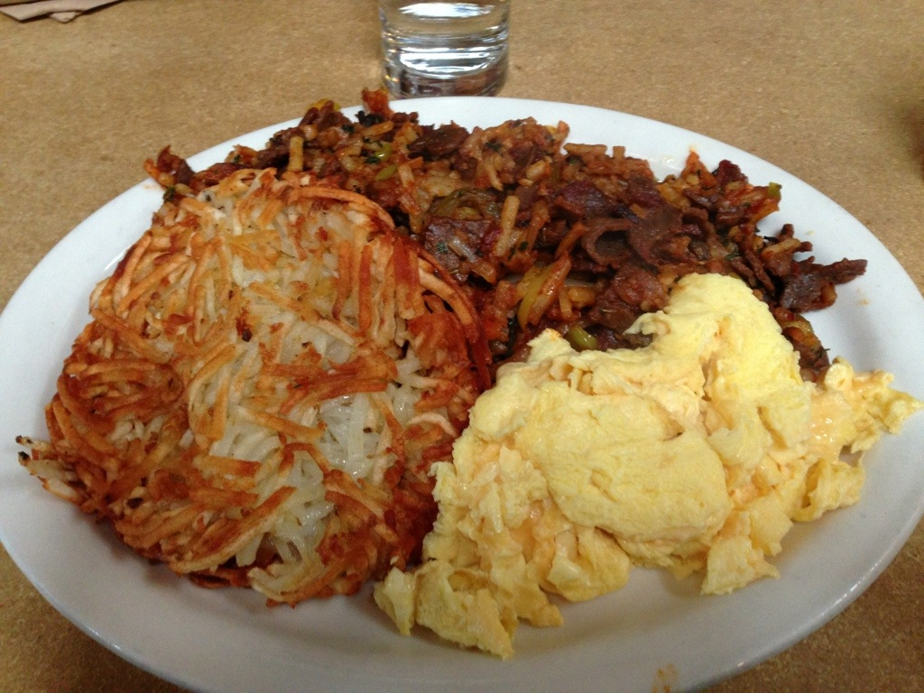 Roast beef hash at Gravy on North Mississippi Ave