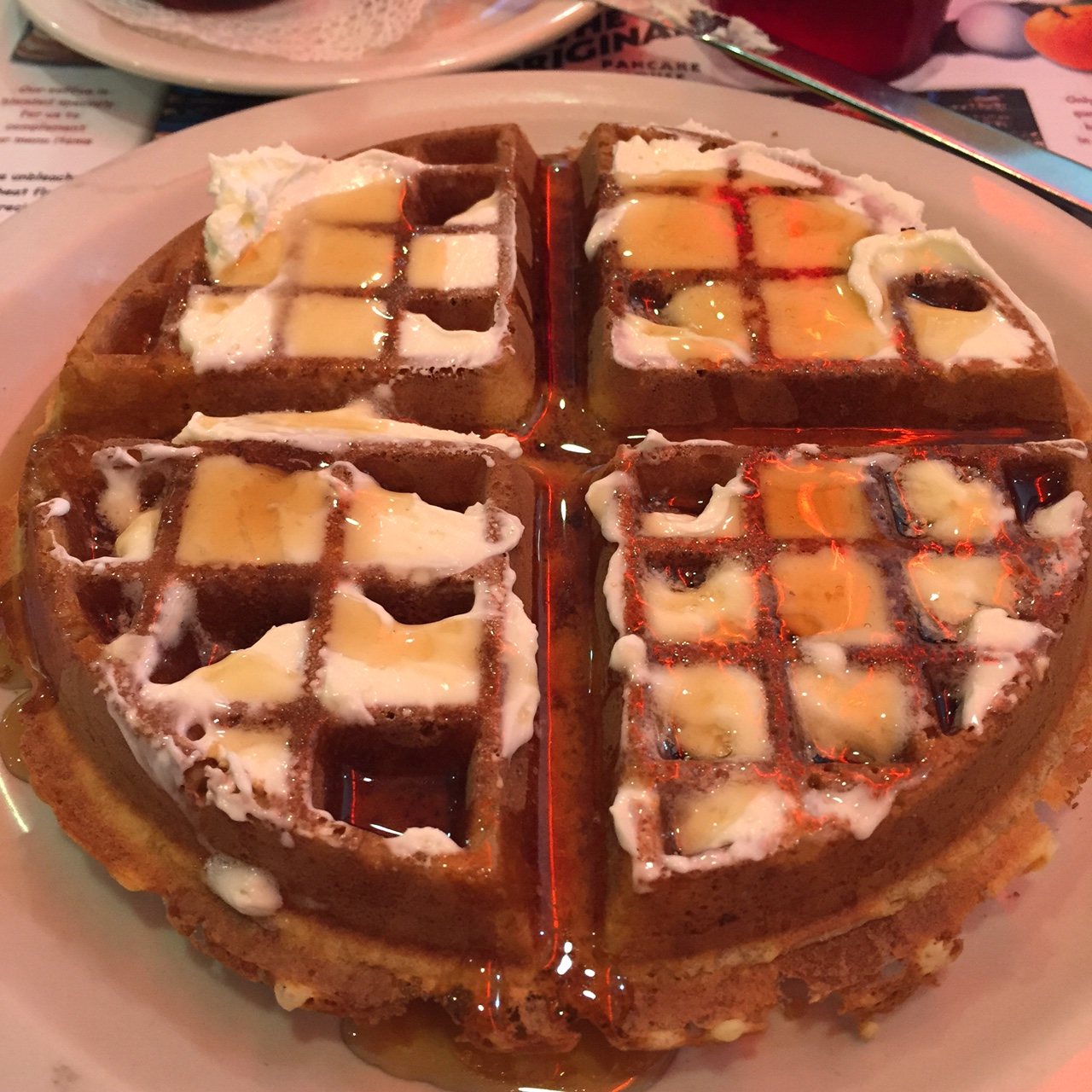 The Belgian waffle at the Delray Beach location