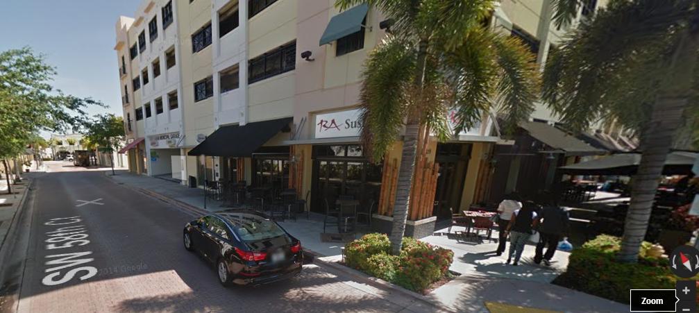 Entrance to South Miami Municipal Garage (really easy to enter)