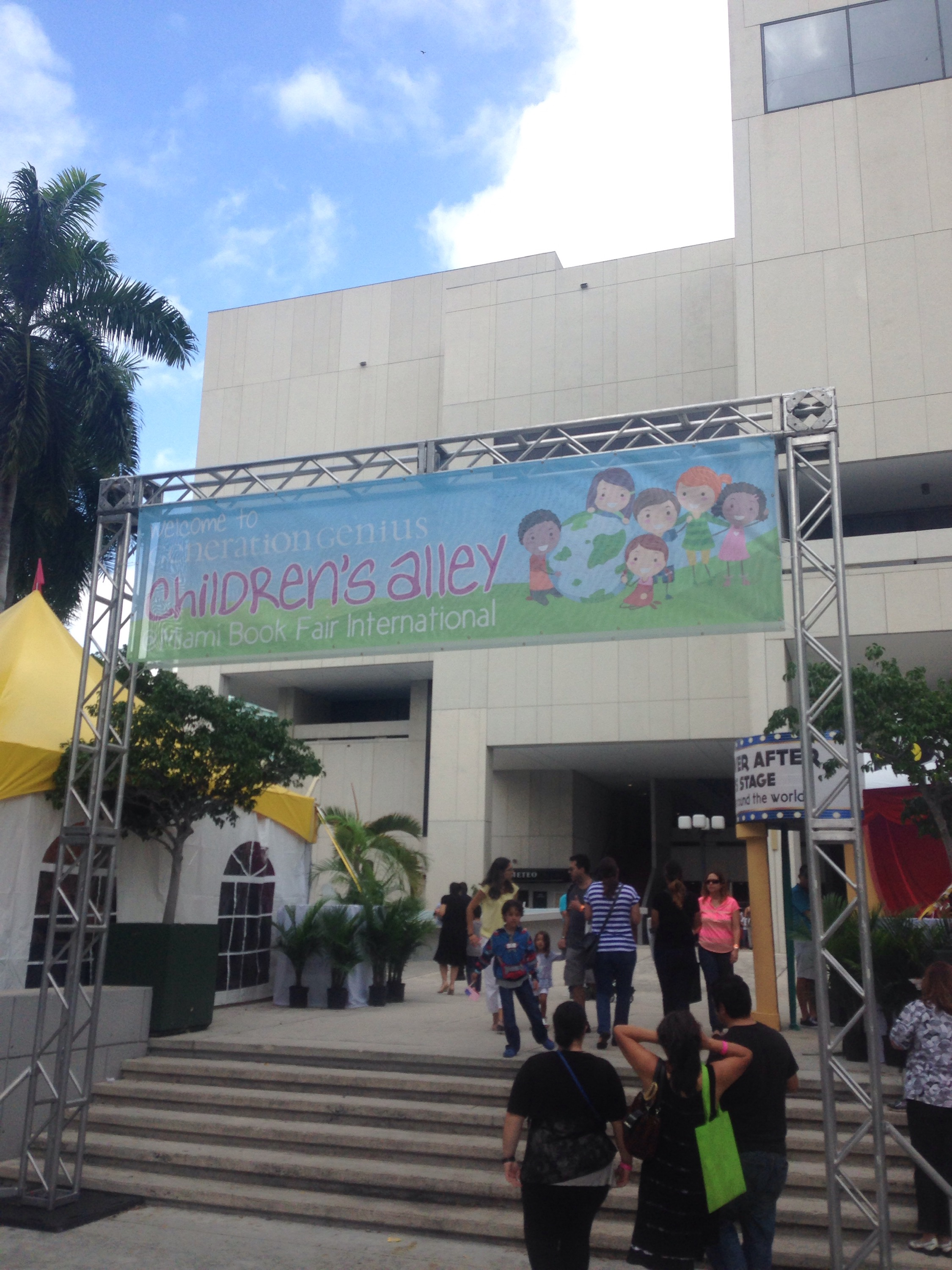 Entrance to the children's area of the book fair