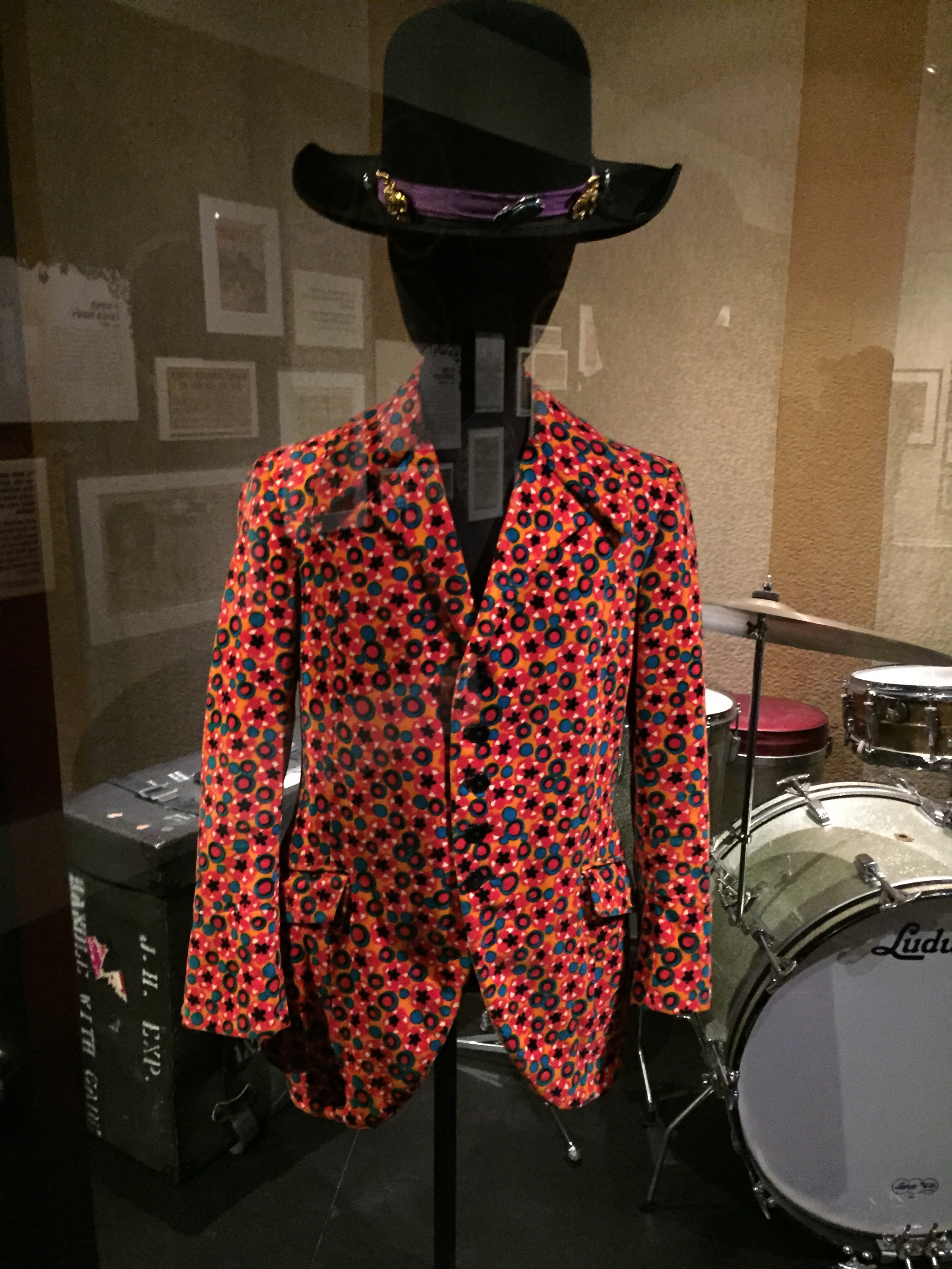 Outfit in the Jimi Hendrix exhibit