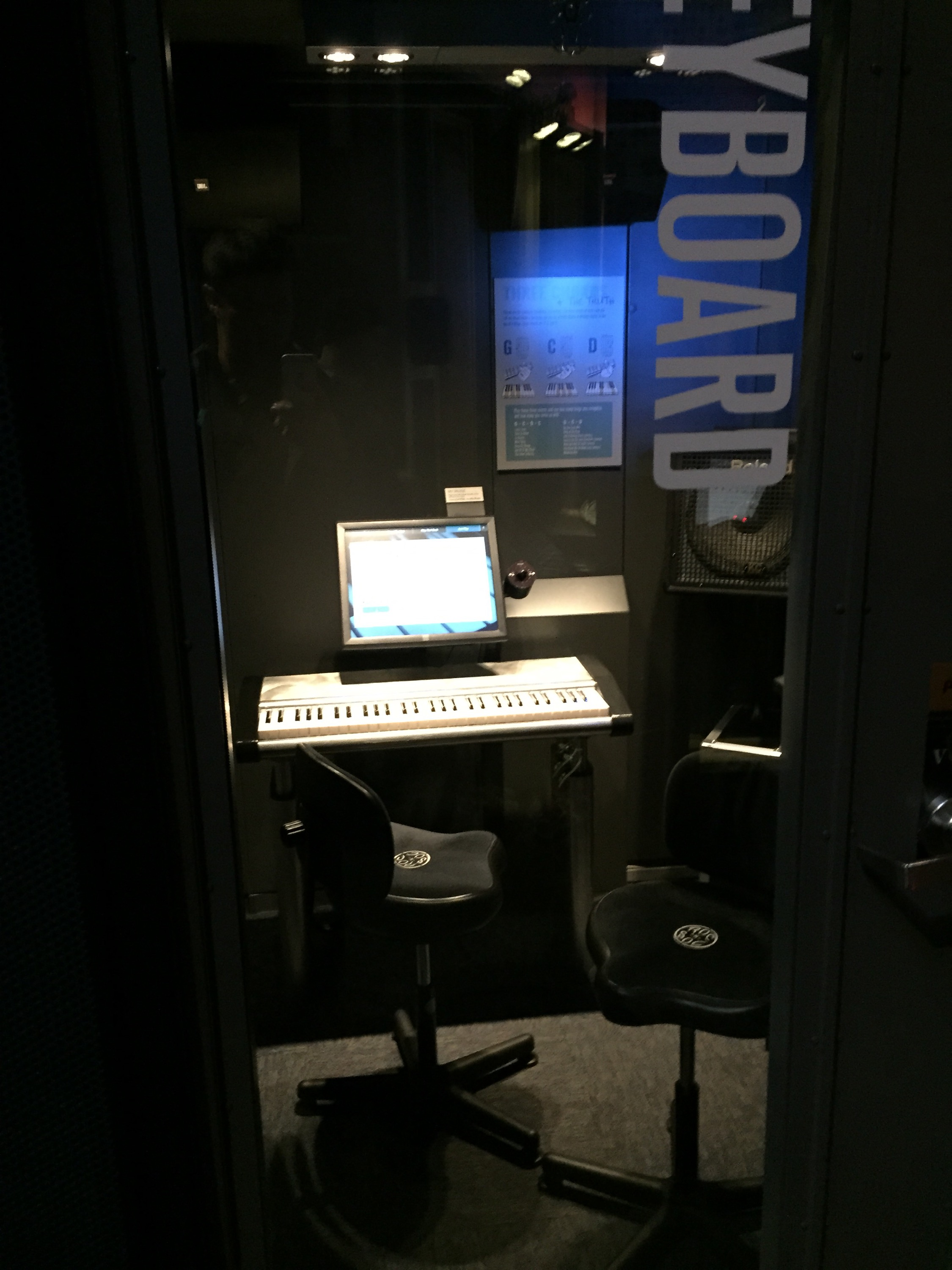 Keyboard alcove in the Sound Lab