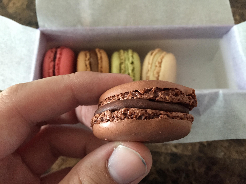 The chocolate macaron