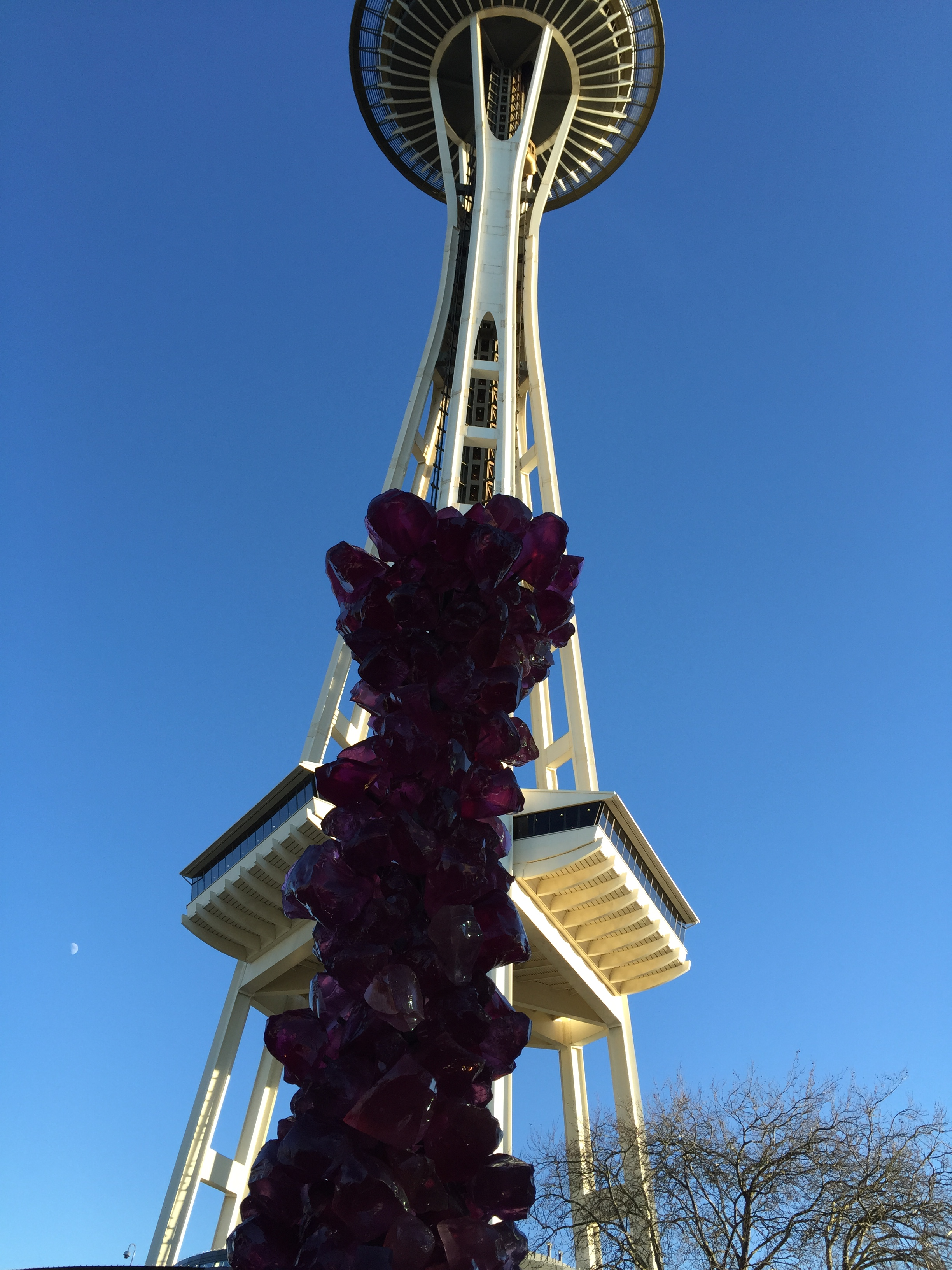 In the shadow of the Space Needle