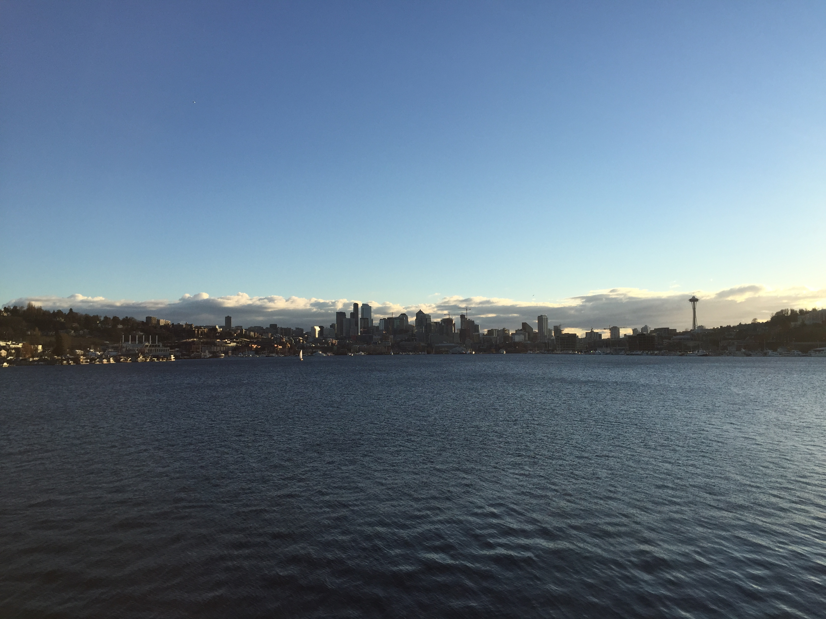 View across Lake Union of the Seattle skyline